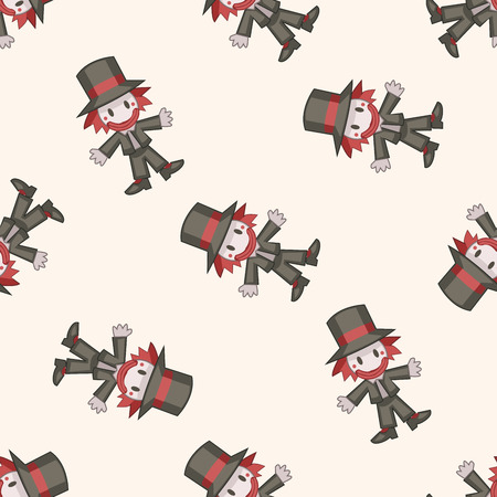 hatter: alice in wonderland , cartoon seamless pattern background Illustration