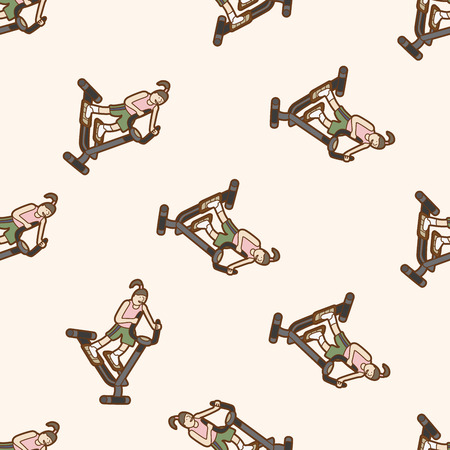 fitness trainer: fitness trainer , cartoon seamless pattern background