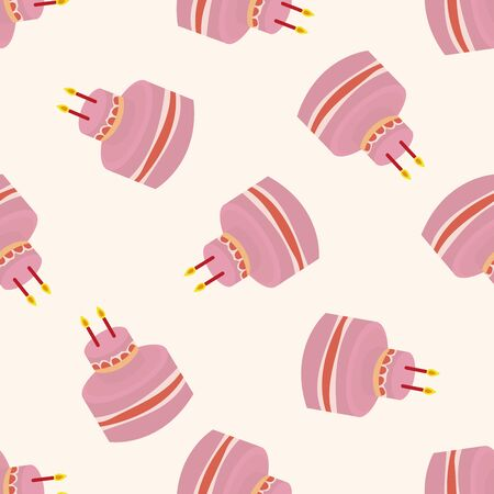 decorating cake , cartoon seamless pattern background Vector
