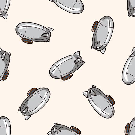 luftschiff: Luftschiff, cartoon nahtlose Muster Hintergrund
