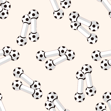 interested: Pet dog toy 10 , cartoon seamless pattern background Illustration