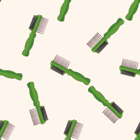 groomer: Pet dog brush 10, cartoon seamless pattern background