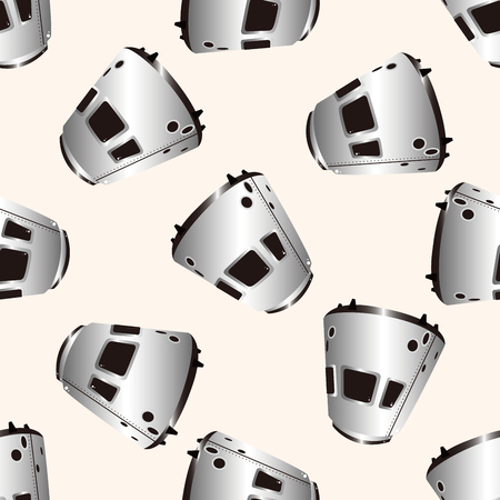 invaders: Space UFO, , cartoon seamless pattern background Illustration