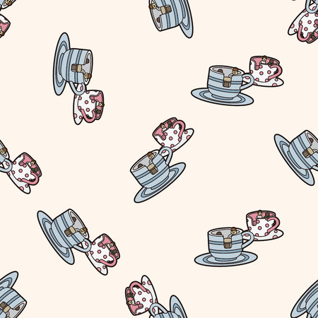 playground coffee-cup , cartoon seamless pattern background Vector