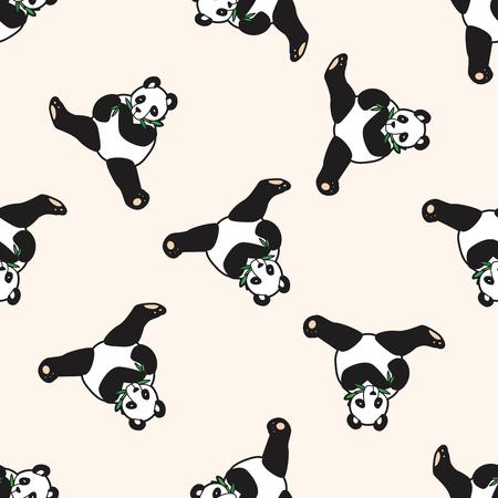 Animales panda de la historieta, de la historieta Modelo inconsútil del fondo Foto de archivo - 40410414