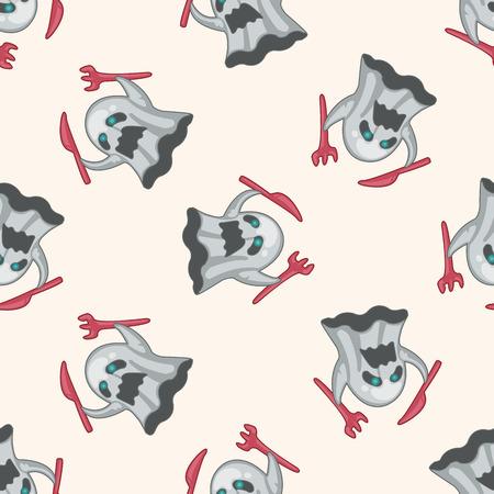 pattern monster: bizarre monster , cartoon seamless pattern background Illustration