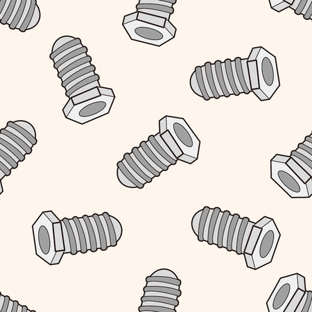 work tool: work tool screw , cartoon seamless pattern background