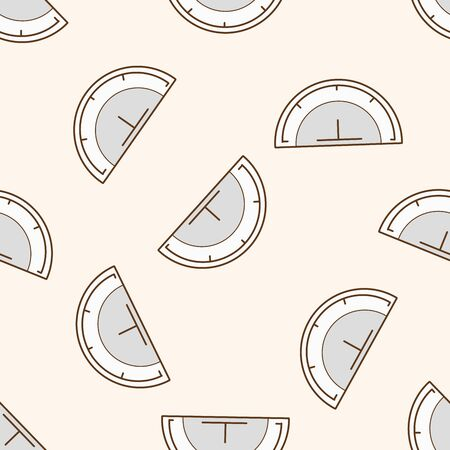 protractor: stationary protractor , cartoon seamless pattern background Illustration