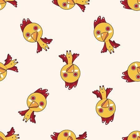 animal cock: animales gallo de dibujos animados, dibujos animados patr�n de fondo sin fisuras
