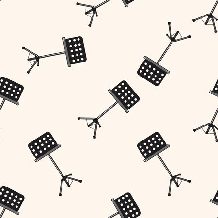 conductors: Music stand , cartoon seamless pattern background Illustration
