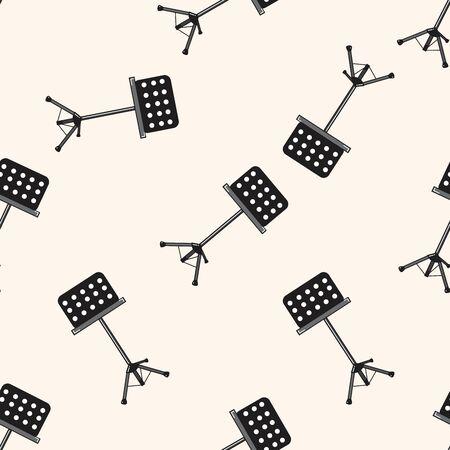 music stand: Music stand , cartoon seamless pattern background Illustration