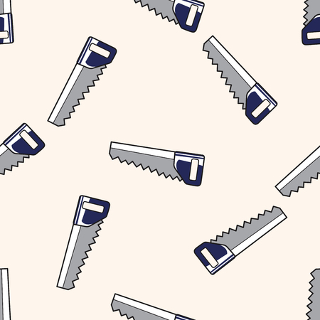 work tool: work tool hacksaw , cartoon seamless pattern background