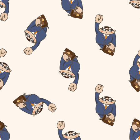 bussinesman: person character , cartoon seamless pattern background Illustration