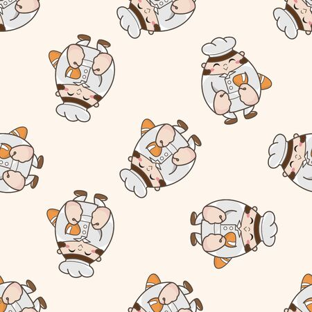 person character , cartoon seamless pattern background Vector