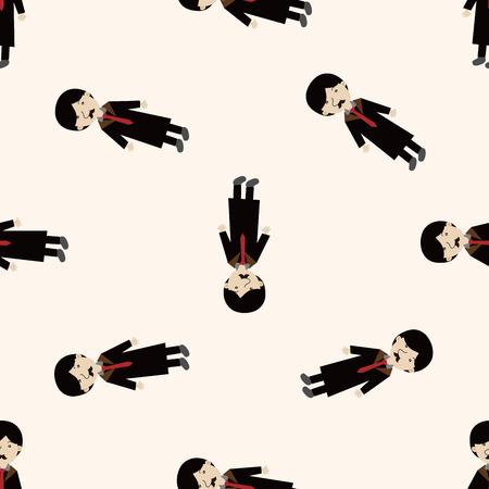 mafioso: mafia , cartoon seamless pattern background