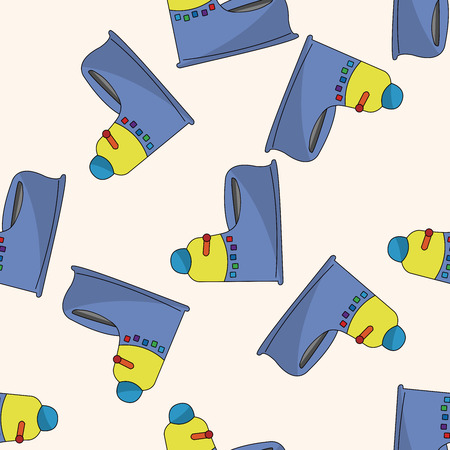 baby potty , cartoon seamless pattern background Vector