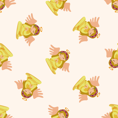 angel cartoon: angel cartoon design , cartoon seamless pattern background