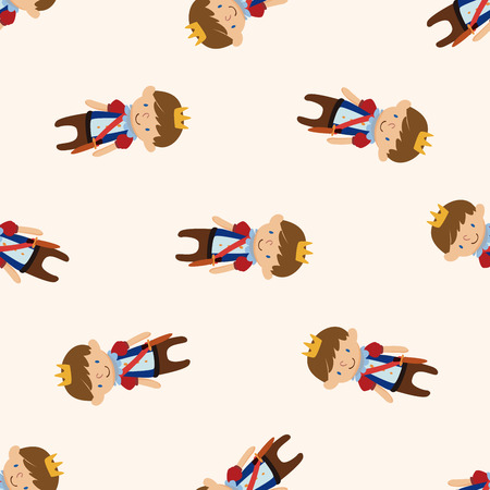royal background: Royal theme prince , cartoon seamless pattern background
