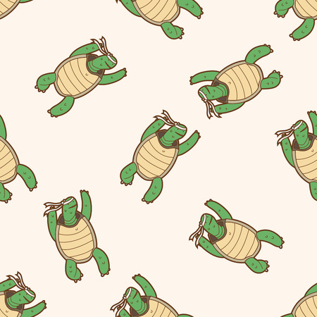 Tortoise and the Hare , cartoon seamless pattern background Vector