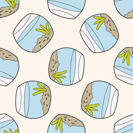 gold fish bowl: Pet goldfish bowl 10, cartoon seamless pattern background