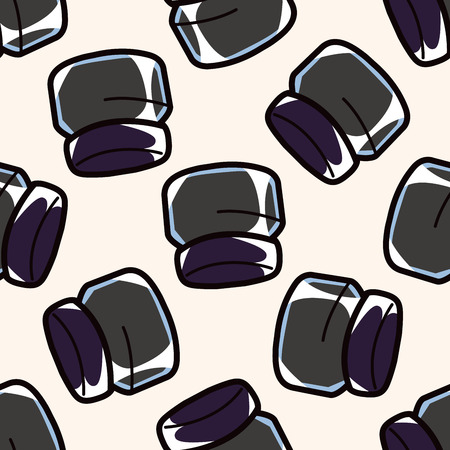 eye liner: eye liner and eyeshadow , cartoon seamless pattern background Illustration