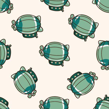 style hot air ballon , cartoon seamless pattern background Vector