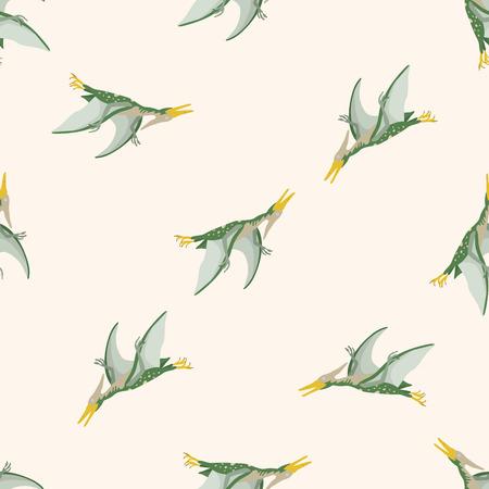 dinosaur cartoon , cartoon seamless pattern background