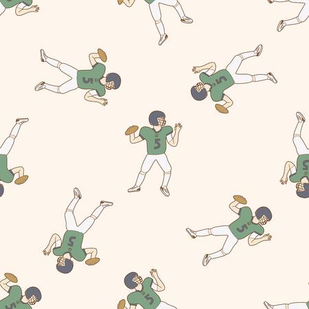 tackling: football player , cartoon seamless pattern background