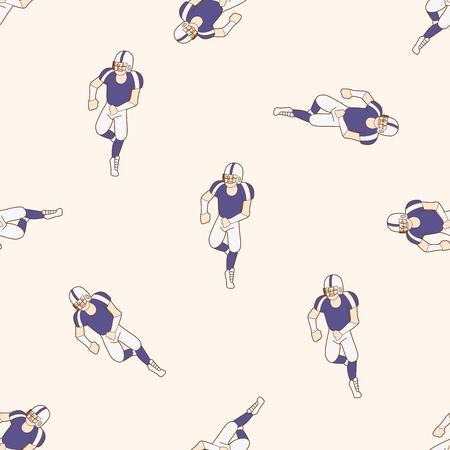 quarterback: football player , cartoon seamless pattern background