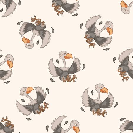 condor: bird condor cartoon , cartoon seamless pattern background Illustration