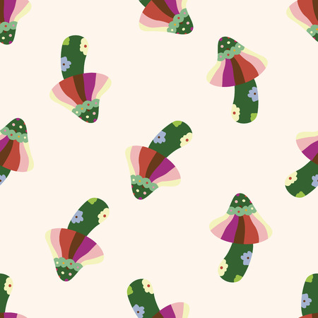 pilz cartoon: Pilz-Cartoon, Karikatur nahtlose Muster Hintergrund