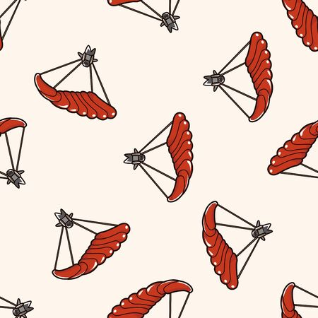 gliding: Hang gliding , cartoon seamless pattern background