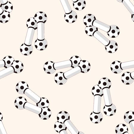 dog bite: Pet dog toy 10 , cartoon seamless pattern background Illustration