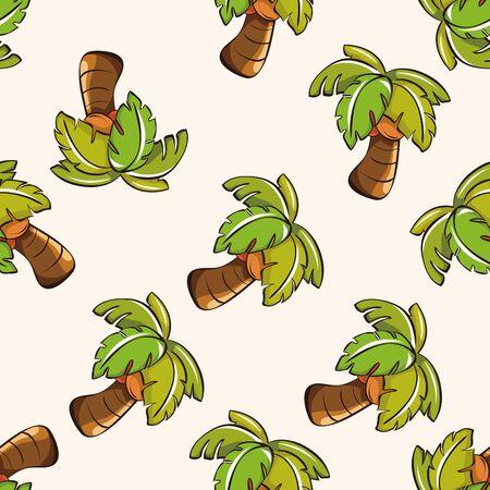cartoon palm tree: tree , cartoon seamless pattern background