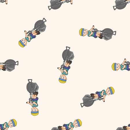 exercise cartoon: fitness exercise , cartoon seamless pattern background