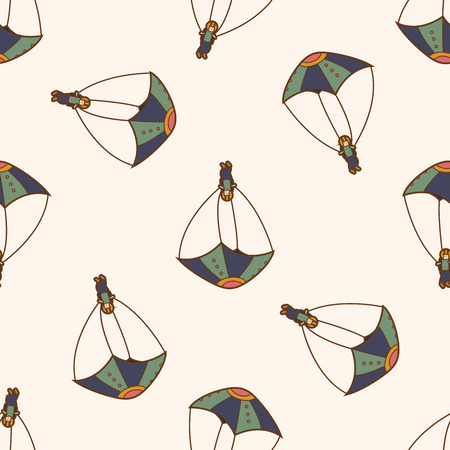 hang gliding: Hang gliding , cartoon seamless pattern background