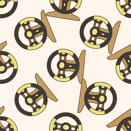 checker flag: racing steering wheel , cartoon seamless pattern background