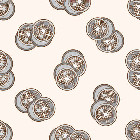 racing wheel: racing wheel , cartoon seamless pattern background
