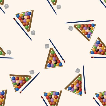 Billiards , cartoon seamless pattern background photo