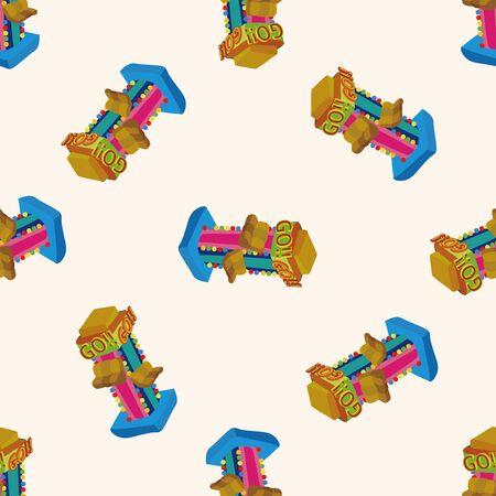 playground rides: Amusement park facilities , cartoon seamless pattern background