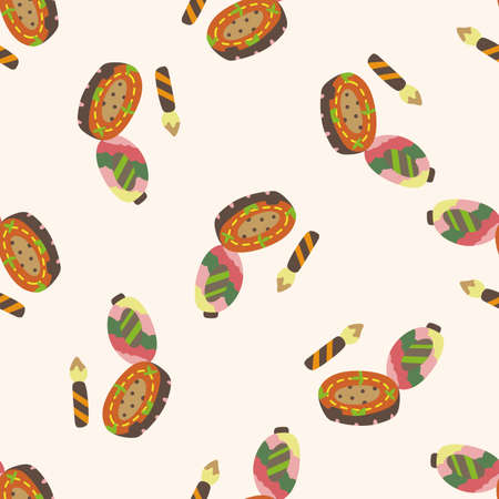 eye liner: eye liner and eyeshadow , cartoon seamless pattern background Stock Photo