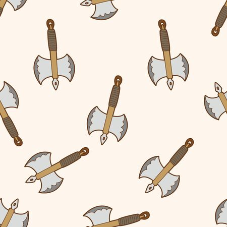 weapon axe , cartoon seamless pattern background photo