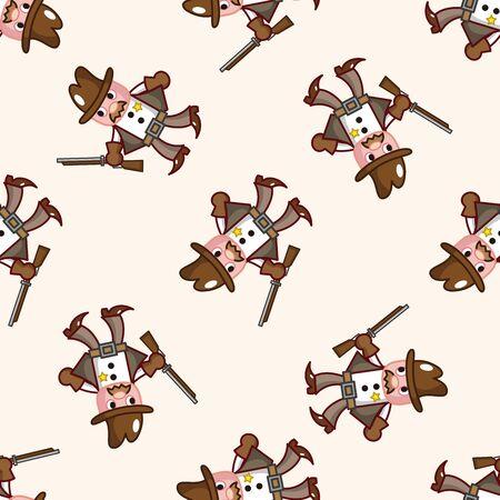cowboy , cartoon seamless pattern background photo