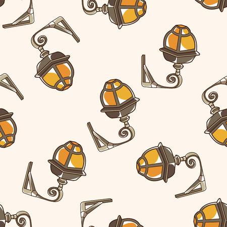 street lamp , cartoon seamless pattern background photo