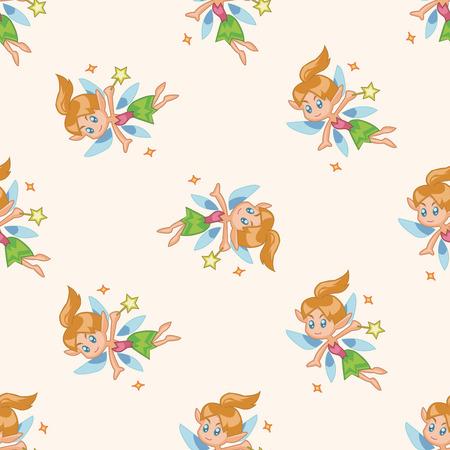 elf queen: fairytale princess , cartoon seamless pattern background