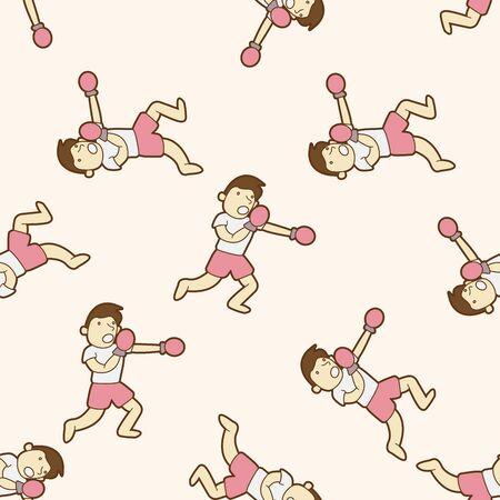 exercise cartoon: boxing exercise , cartoon seamless pattern background