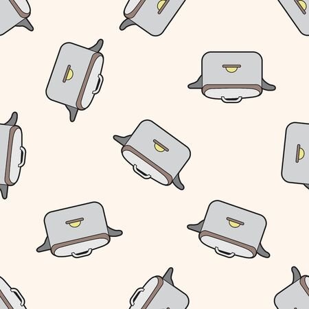 rice cooker: kitchenware rice cooker , cartoon seamless pattern background