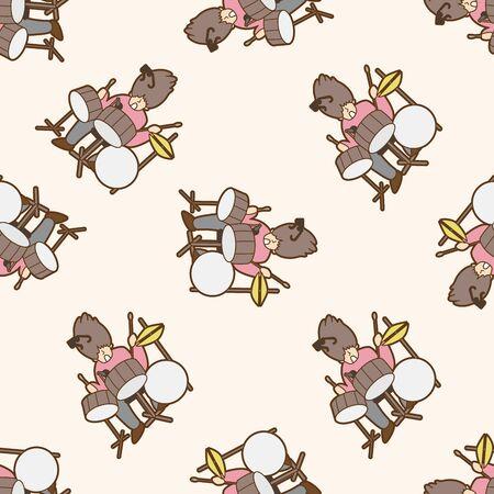 musicians: Musicians , cartoon seamless pattern background