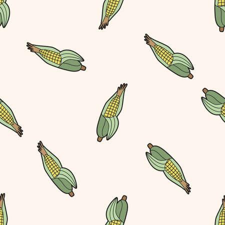 elote caricatura: vegetal tema de ma�z, de dibujos animados patr�n de fondo sin fisuras Foto de archivo