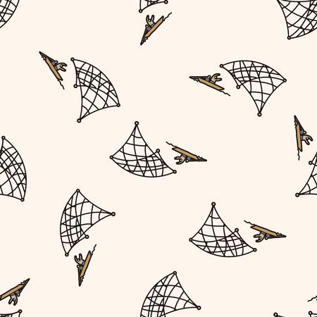 fishing cartoon , cartoon seamless pattern background Vector